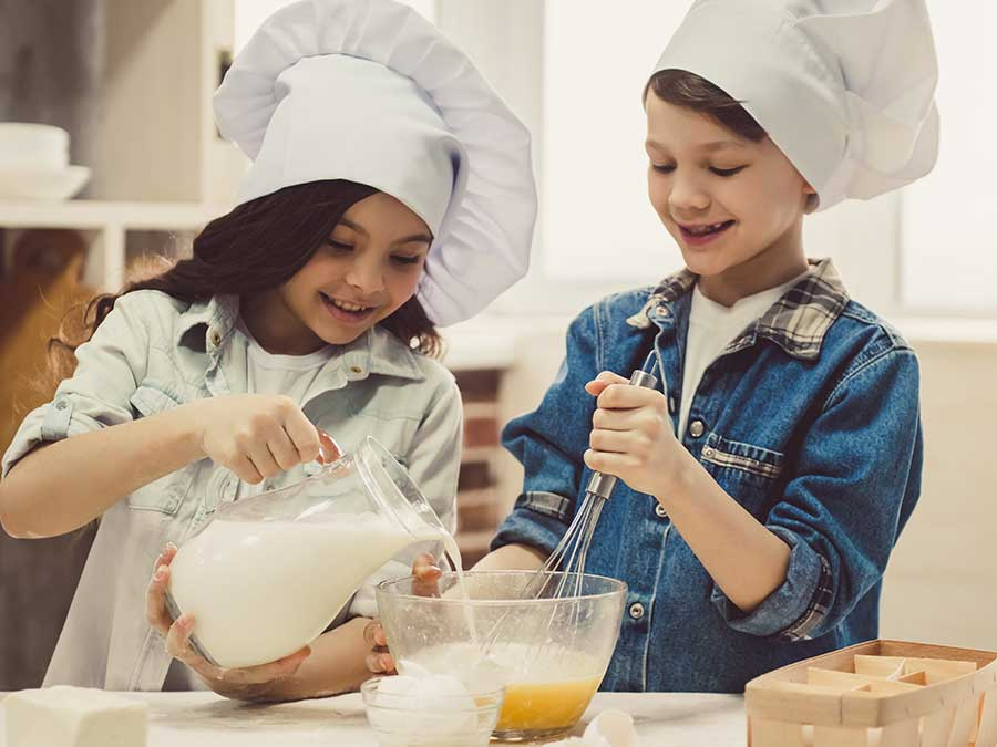 Kids baking on a cruise ship