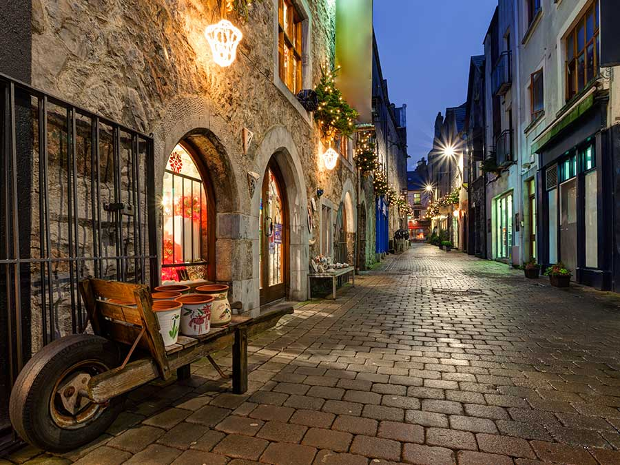 An alley in Galway, Ireland