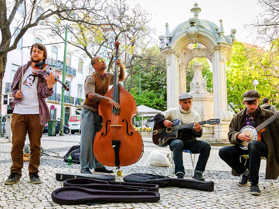 Musicians in Lisbon, Portugal