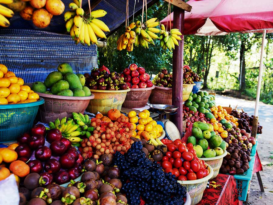 Fruit and vegetable market in Bali