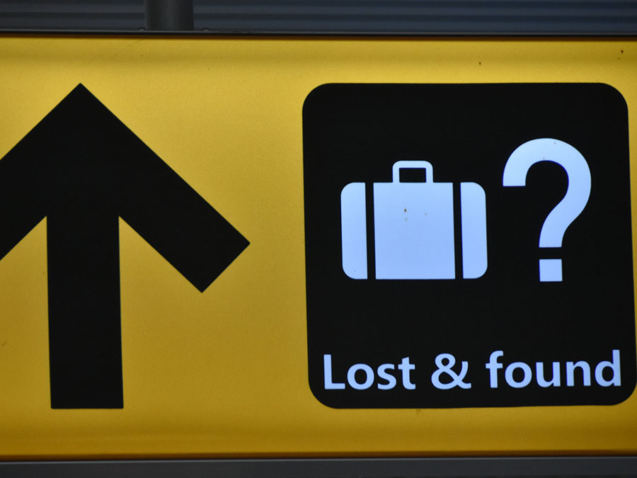Lost and found sign